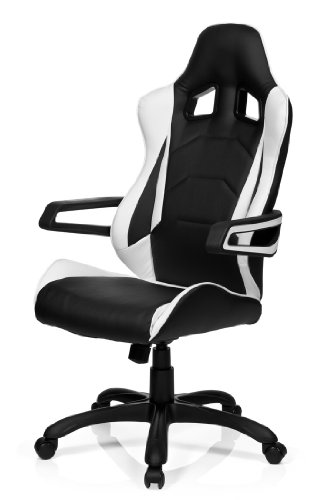 hjh ergonomischer b rostuhl 621836 racer pro i 10 2018. Black Bedroom Furniture Sets. Home Design Ideas